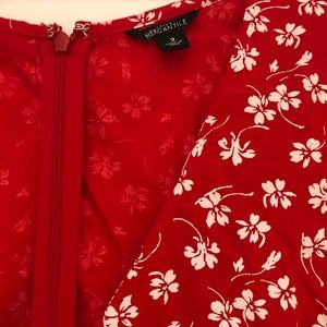 JCrew mercantile small floral ruffled mini dress.